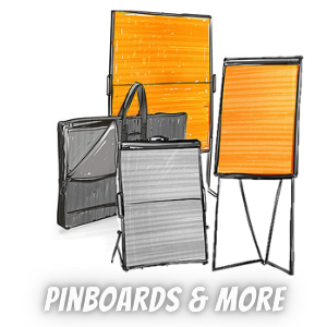 Pinboards, Flipcharts, Graphic Walls, Chalkboards, Whiteboards & More