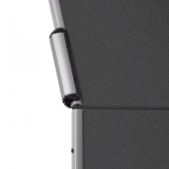 EuroPin® MC Mini Pinboard: grey alu/black felt cover