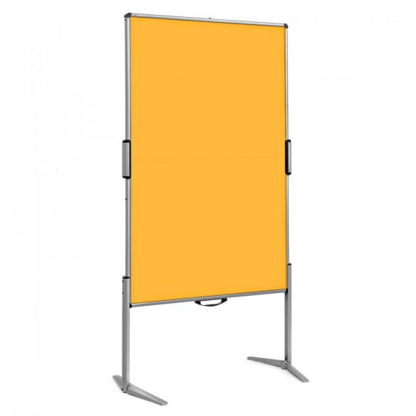 EuroPin® MC Mini Pinboard: grey alu/yellow felt cover