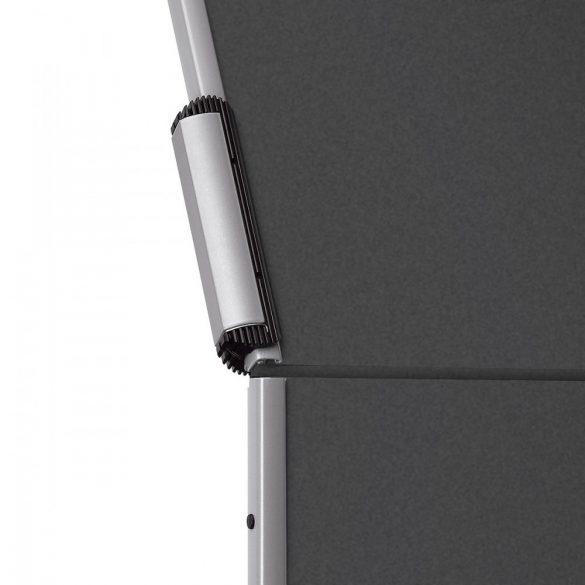 EuroPin® MC Mini Pinboard: grey alu/tangerine felt cover