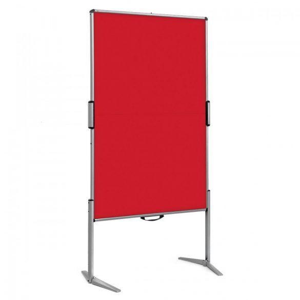 EuroPin® MC Mini Pinboard: grey alu/signal red felt cover