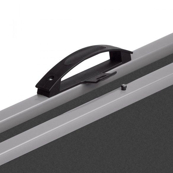 EuroPin® MC Mini Pinboard: grey alu/azure felt cover