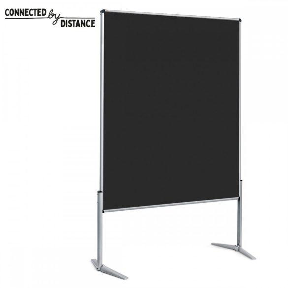 EuroPin® UT Pinboard: grey alu/black foam board