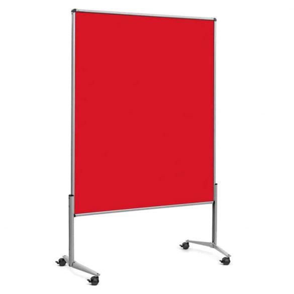 Panou Textil Mobil Neuland Pinboard EuroPin© UT Slide: Fetru Roșu Închis