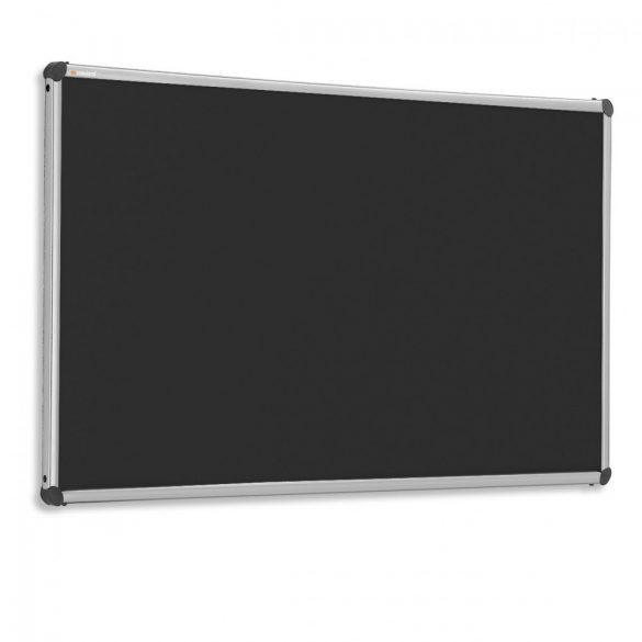 Tabla Perete Pinboard EuroPin® W, 90 x 120 cm - Negru