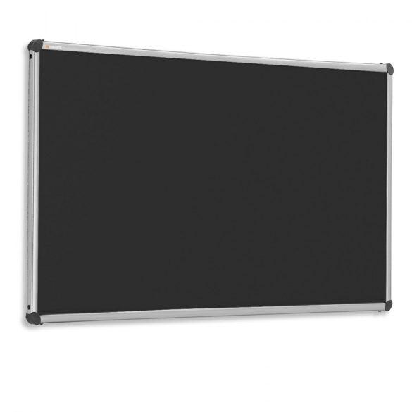 EuroPin® W, Wall pinboard 100 x 200 cm - Black