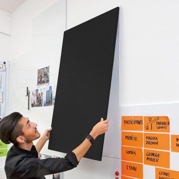 Panou Textil de Perete Neuland ProcessWall Pinboard 75 x 112,5 cm , fetru Negru