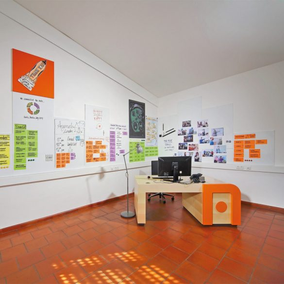 Panou Textil Pinboard ProcessWall 100 x 150 cm - Negru