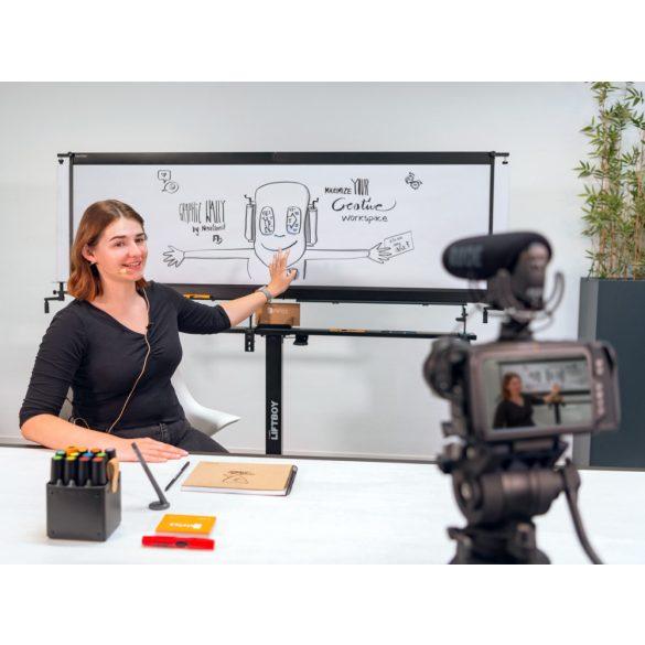 Șină de susținere lungă LiftBoy pentru GraphicWally® cu extensie
