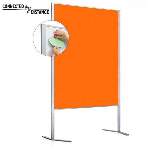Panou Prezentare Neuland LW-11 Duo Combi, Tabla Whiteboard și Panou Textil, fetru Portocaliu Tangerine