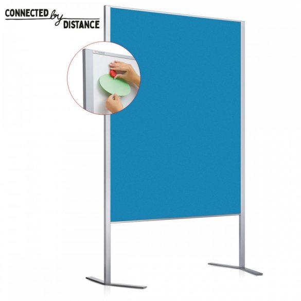 Panou Prezentare Neuland LW-11 Duo Combi, Tabla Whiteboard și Panou Textil, fetru Albastru Azur