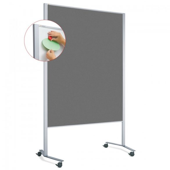 Panou Textil Neuland Mobil LW-11 Duo Slide Combi Board, fetru Antracit (model standard)