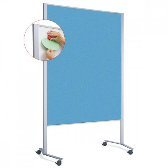 Panou Textil Mobil Neuland LW-11 Duo Slide Combi: Whiteboard-Pinboard - fetru Albastru Azur