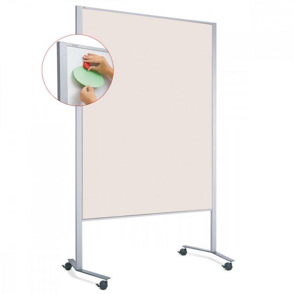 Panou Textil Mobil LW-11 Duo Slide Combi: Whiteboard-Pinboard - fetru Alb-Natur