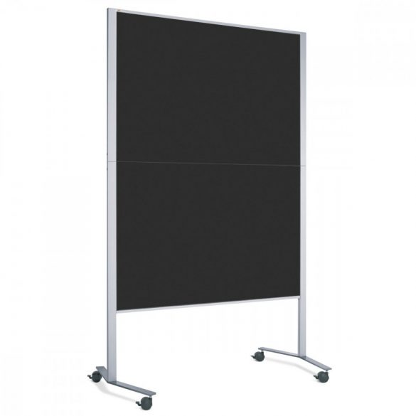 Panou Textil Pinboard Mobil LW-11E Slide: Negru