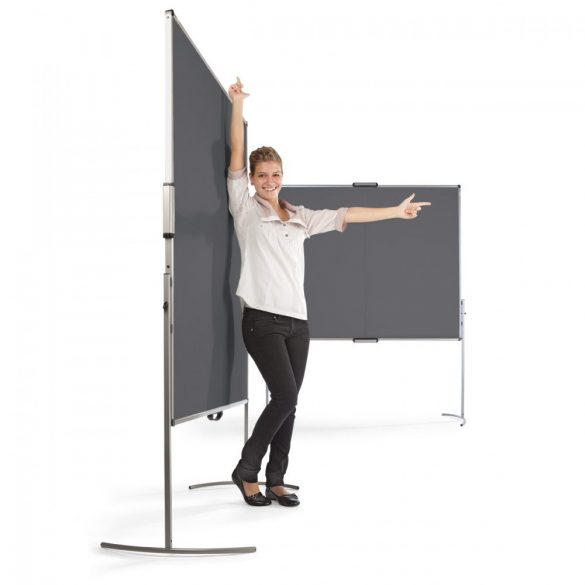 UniPin® 2 MC-B Pinboard: grey alu/light grey felt cover