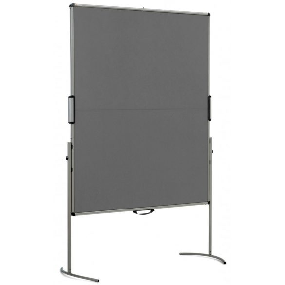 UniPin® 2 MC-B Pinboard: grey alu/yellow felt cover
