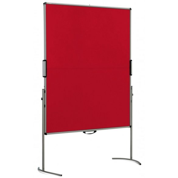 UniPin® 2 MC-B Pinboard: grey alu/signal red felt cover