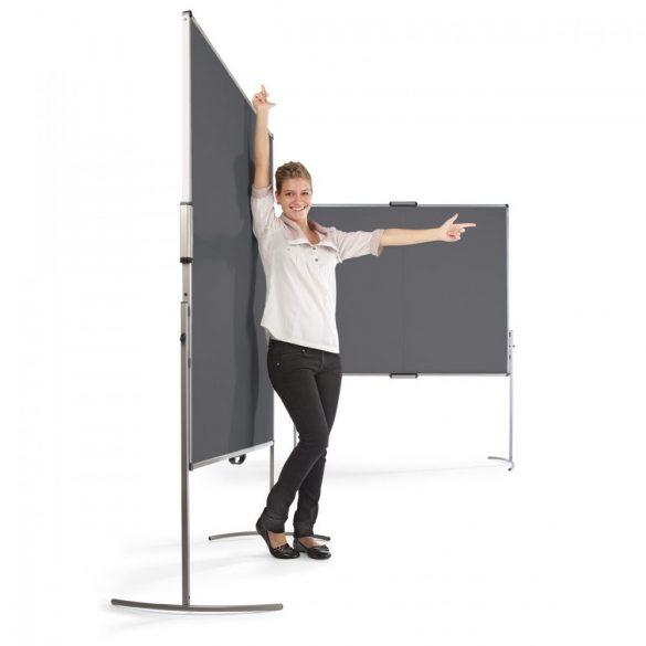 UniPin® 2 MC-B Pinboard: grey alu/natural white felt cover