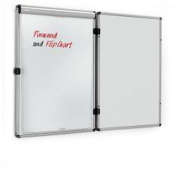 EuroTwin Wall Pinboard, left opening: grey alu/light grey