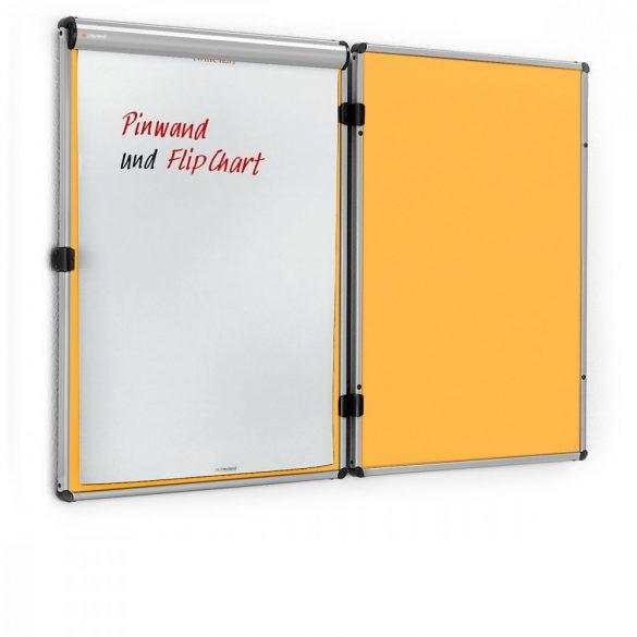 Neuland Panou Combi EuroTwin, whiteboard/pinboard deschidere stânga: fetru Galben