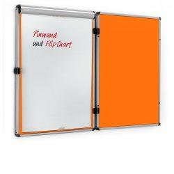 Panou Textil Pinboard EuroTwin, deschidere stânga: fetru Tangerine