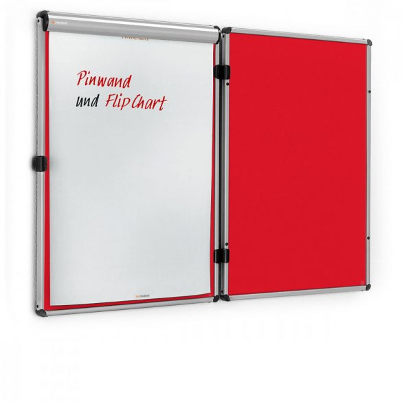 Panou Textil de Perete Neuland EuroTwin Wall Pinboard, fetru Roșu