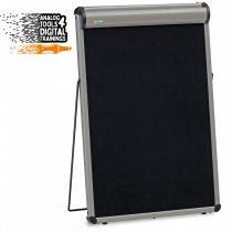 Flipchart de Masă:TableTop FlipChart: grey alu/black foam board