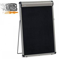 Flipchart de Masă:TableTop FlipChart: grey alu/black foam board
