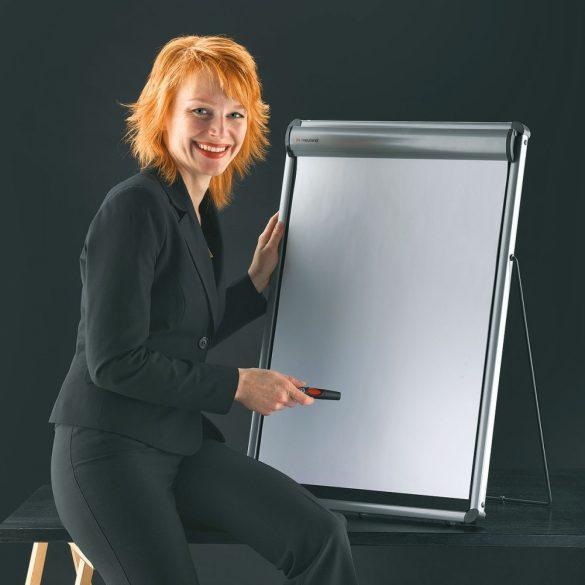 Flipchart de birou:TableTop FlipChart: grey alu/black foam board