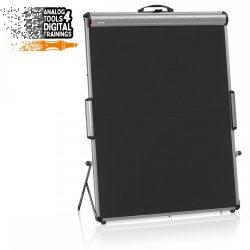 TableTop FlipChart XL: grey alu/black foam board