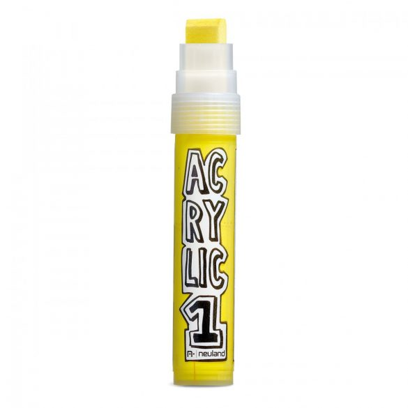 Marker Acrilic Neuland AcrylicOne Big varf tesit,  8-15 mm AC 506 Galben