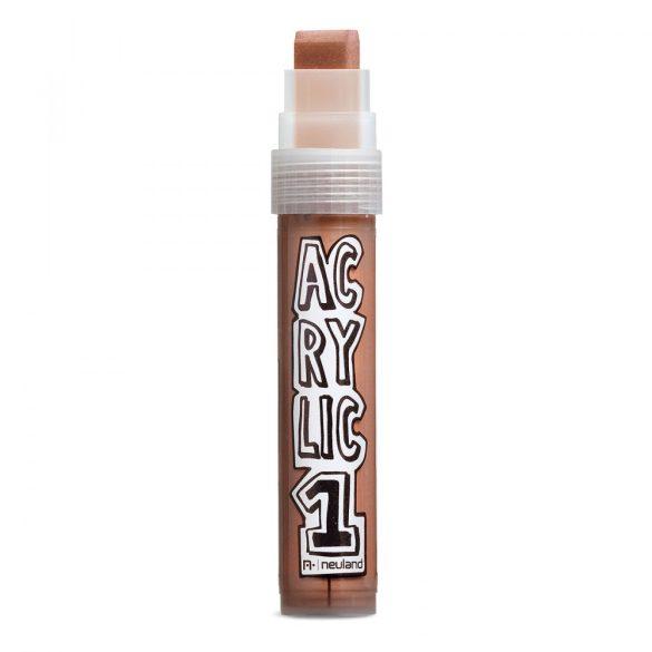 Marker Acrilic Neuland AcrylicOne Big varf tesit,  8-15 mm, Maro
