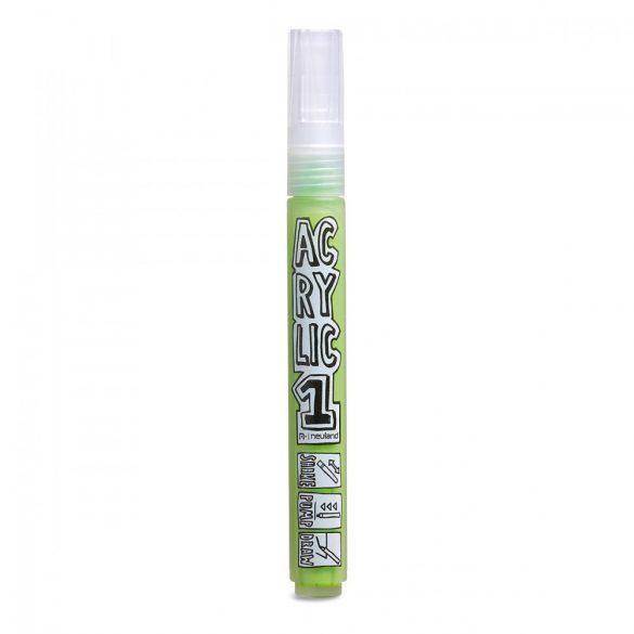 Marker Acrilic Neuland AcrylicOne MEDIUM, varf rotund 2,5 mm, Verde Deschis