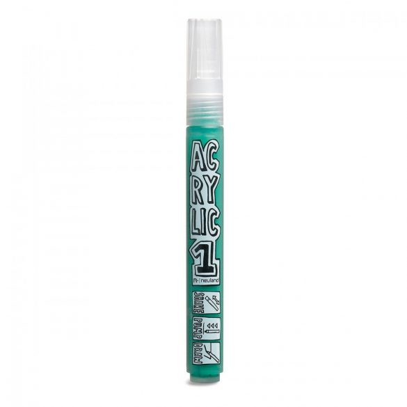 Marker AcrylicOne MEDIUM, varf rotund 2,5mm, Verde Inchis
