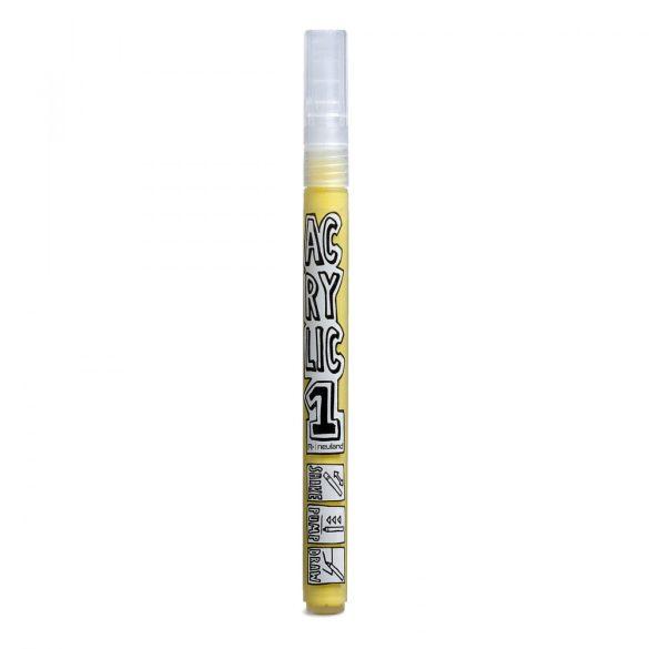Marker Acrilic Neuland AcrylicOne FINE, varf rotund 1,5 mm, Galben