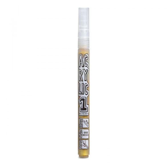 Marker AcrylicOne FINE, varf rotund 1,5mm - Auriu