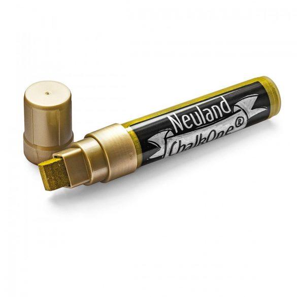 Marker cu Creta Lichida Neuland ChalkOne®, varf tesit  5-15 mm (C554) Auriu