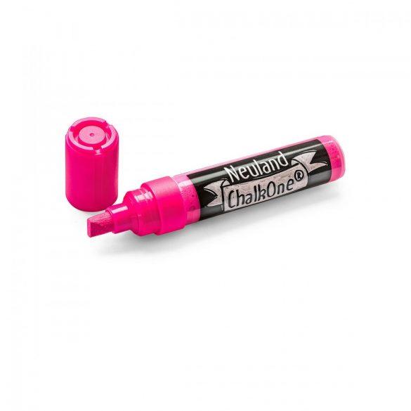 Marker cu Creta Lichida Neuland ChalkOne®, varf tesit 2-8 mm (C520) Roz