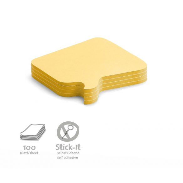 Notite adezive, Neuland Stick-It, model Bubble, 100 file