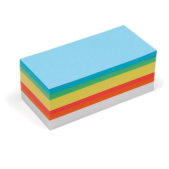 Carduri Moderare Training Neuland Pin-It, Dreptunghiulare, 9,5 x 20,5 cm, 500 buc, set culori asortate
