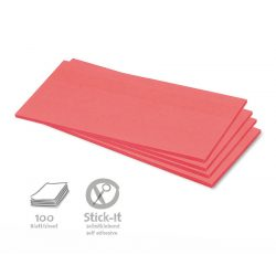 100 Rectangular Stick-It Cards - Red