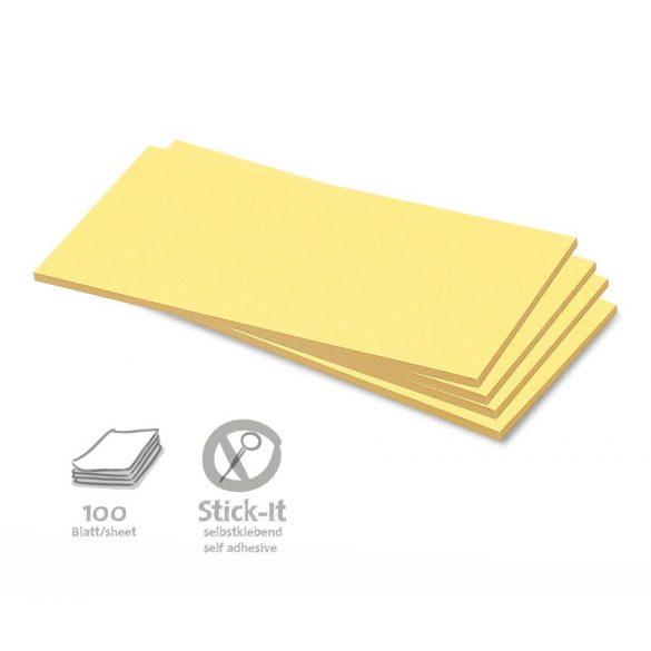 Notite Adezive, Neuland Stick-It, Dreptunghiulare, Midi, 9,5 x 20,5 cm, 100 file