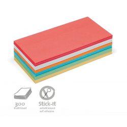 Notite Adezive, Neuland Stick-It, Dreptunghiulare, 9.5 x 20.5 cm, 300 file, culori asortate