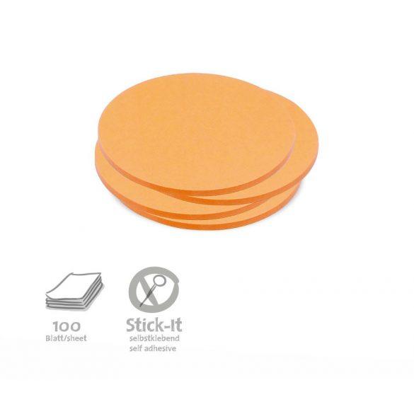 Notite Adezive, Neuland Stick-It, Cerc, 9.5 x 9.5 cm, 100 file