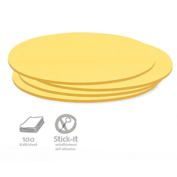 Notite Adezive, Neuland Stick-It, Oval, 11 x 19 cm, 100 file
