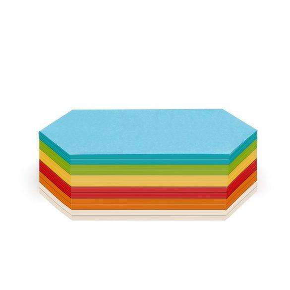 Notite adezive, Neuland Stick-It, model Romb, 9.5 x 20.5 cm, 300 file, culori asortate