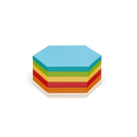 Notite Adezive, Neuland Stick-It, model Hexagon, 300 file, culori asortate