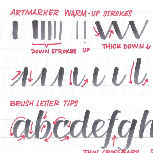 Handlettering Learning Pad to Go