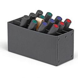 Cutie markere Novario® BigOne MarkerBox II, neagra